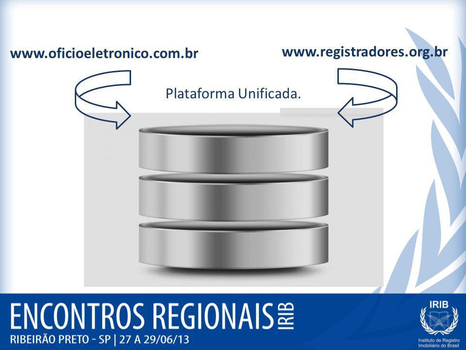 www.oficioeletronico.com.br www.registradores.org.br Plataforma Unificada.