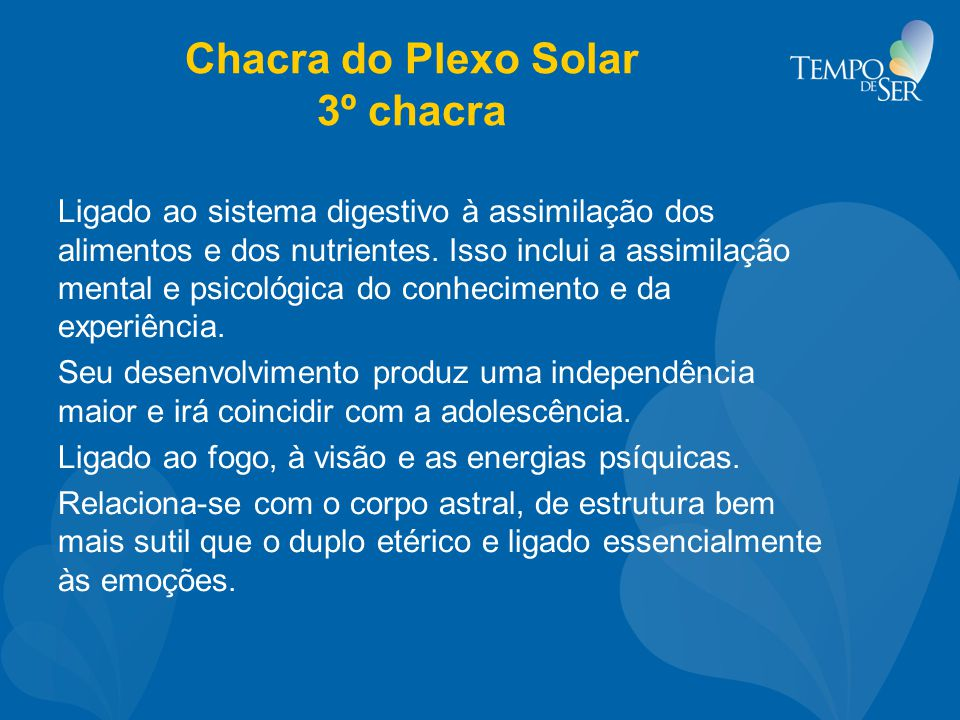 Chacra do Plexo Solar 3º chacra