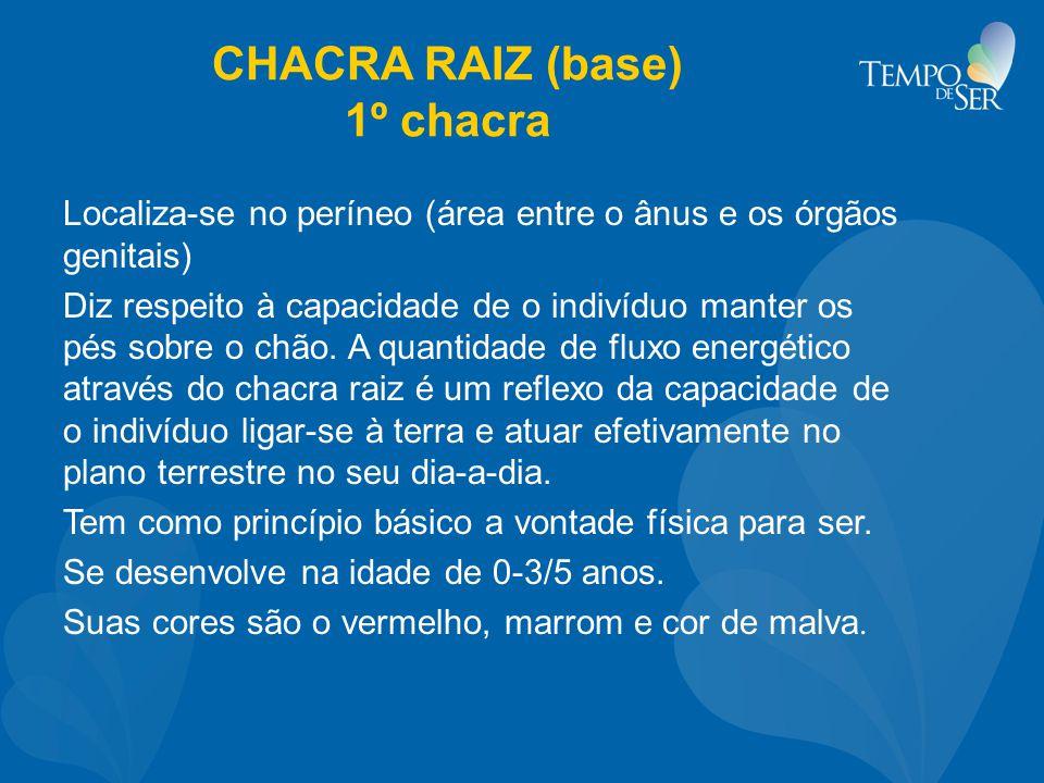 CHACRA RAIZ (base) 1º chacra