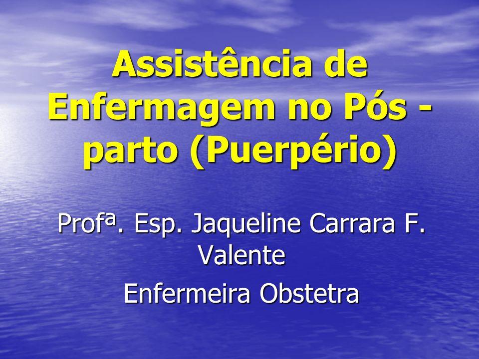 Assistência de Enfermagem no Pós - parto (Puerpério)