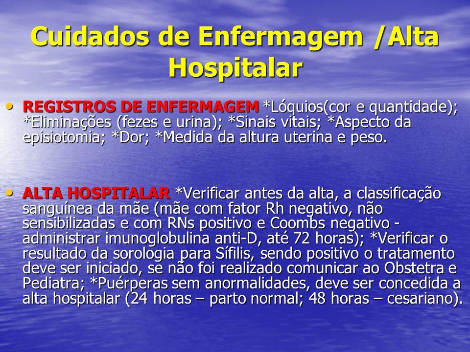 Cuidados de Enfermagem /Alta Hospitalar