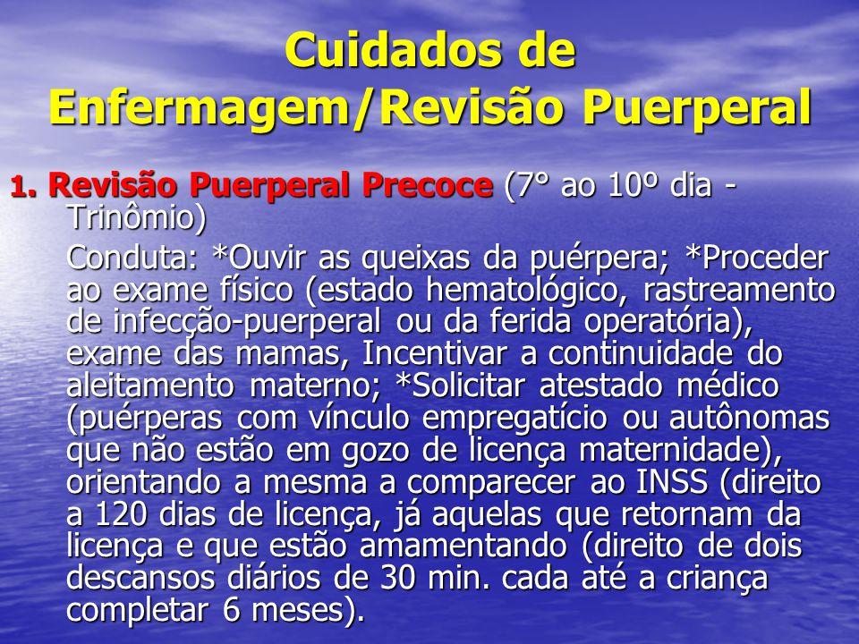 Cuidados de Enfermagem/Revisão Puerperal