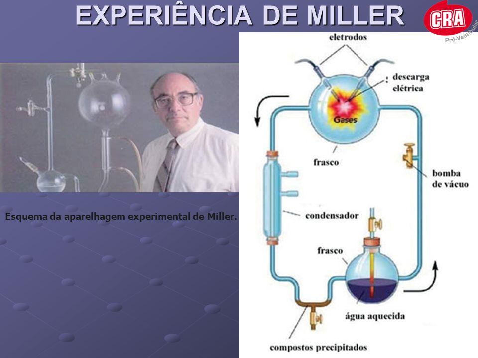 EXPERIÊNCIA DE MILLER Esquema da aparelhagem experimental de Miller.