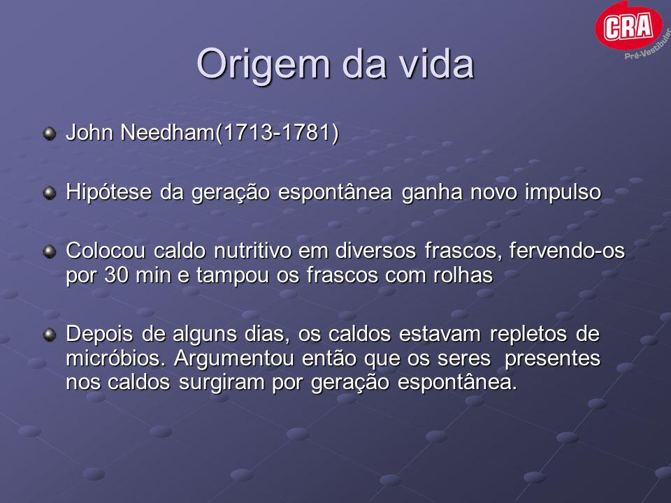 Origem da vida John Needham(1713-1781)