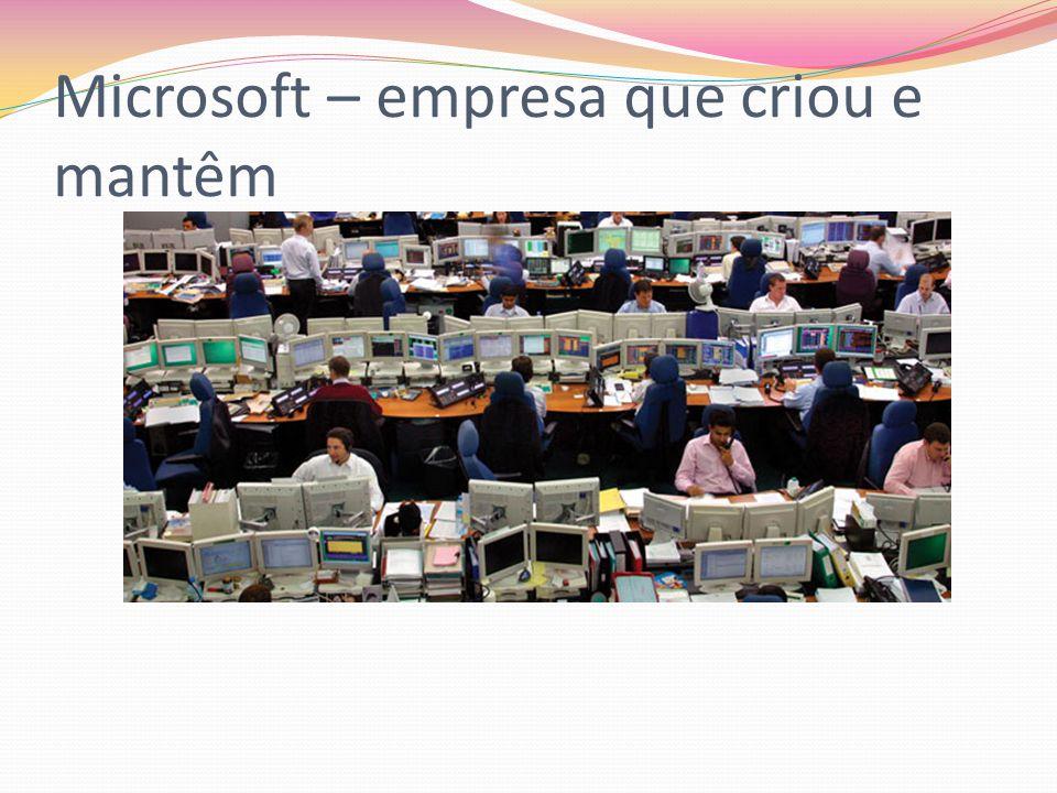 Microsoft – empresa que criou e mantêm