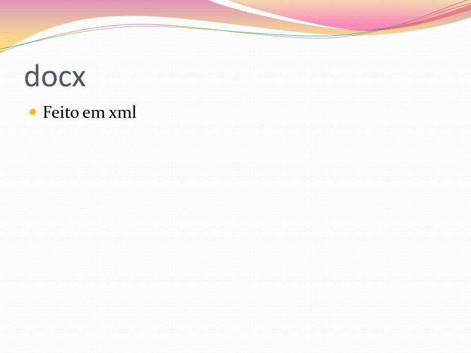 docx Feito em xml