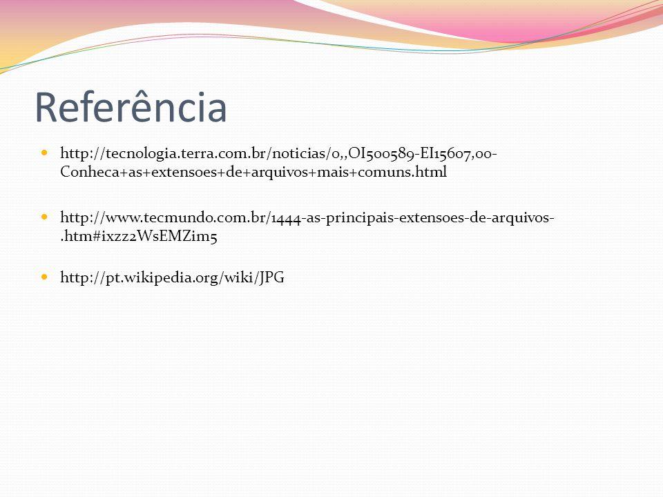 Referência http://tecnologia.terra.com.br/noticias/0,,OI500589-EI15607,00-Conheca+as+extensoes+de+arquivos+mais+comuns.html.