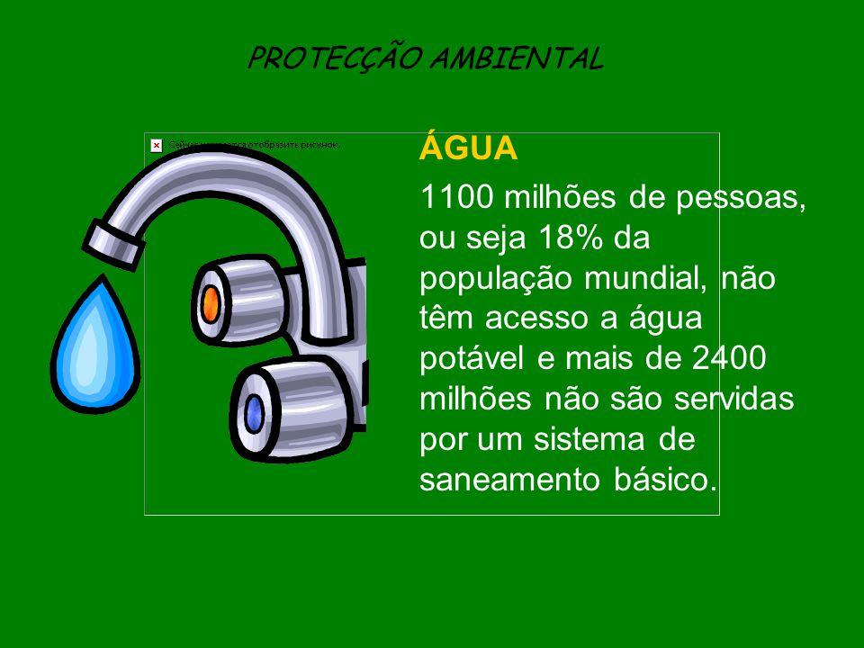 PROTECÇÃO AMBIENTAL ÁGUA.
