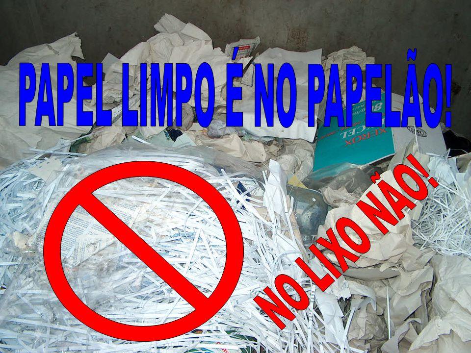PAPEL LIMPO É NO PAPELÃO!