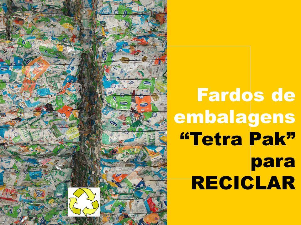 Fardos de embalagens Tetra Pak para RECICLAR