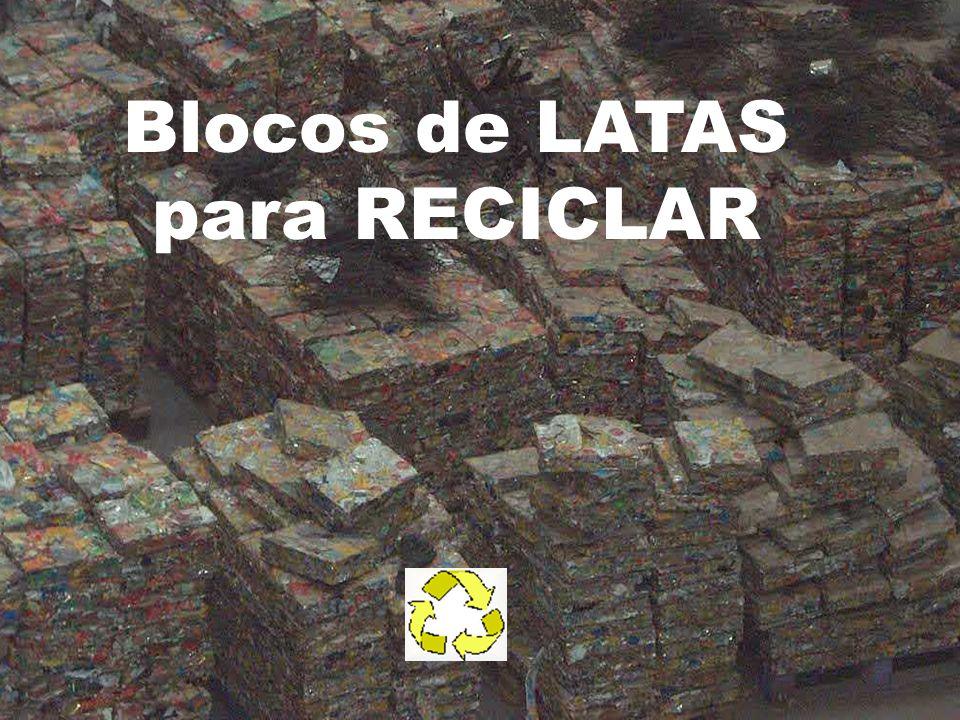 Blocos de LATAS para RECICLAR
