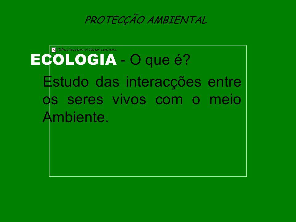 Estudo das interacções entre os seres vivos com o meio Ambiente.