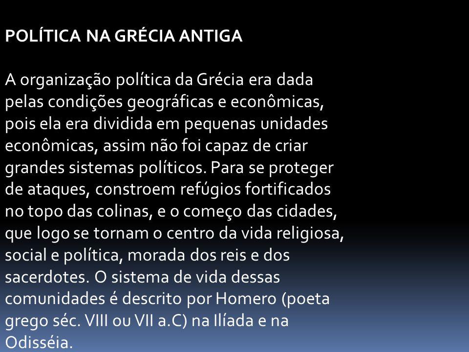 POLÍTICA NA GRÉCIA ANTIGA