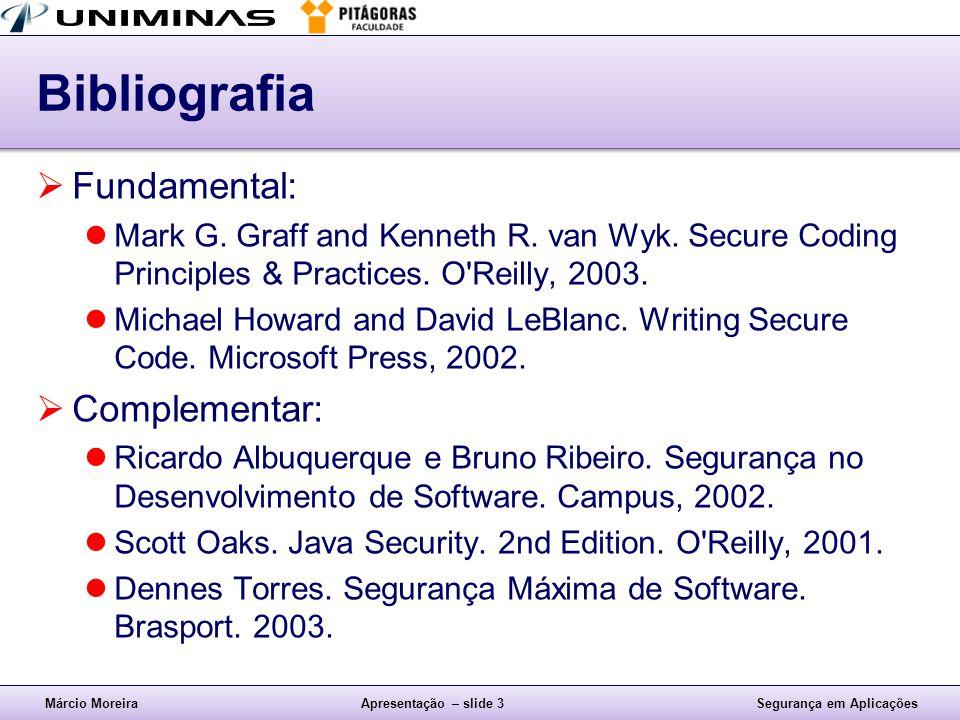 Bibliografia Fundamental: Complementar: