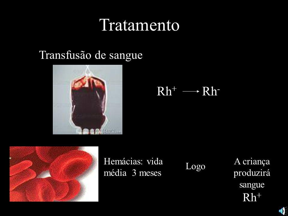 A criança produzirá sangue Rh+