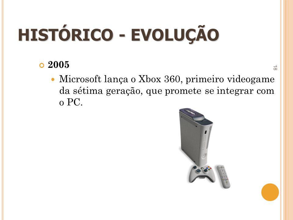 HISTÓRICO - EVOLUÇÃO 2005.