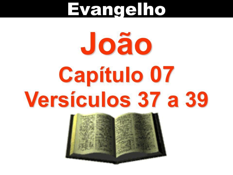 Evangelho João Capítulo 07 Versículos 37 a 39