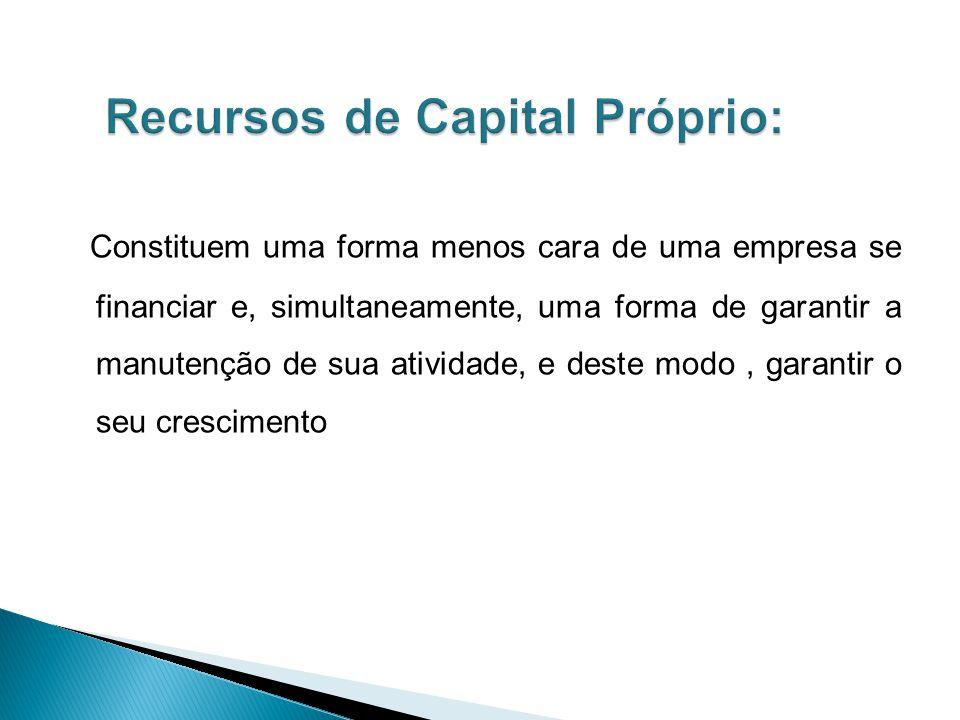 Recursos de Capital Próprio: