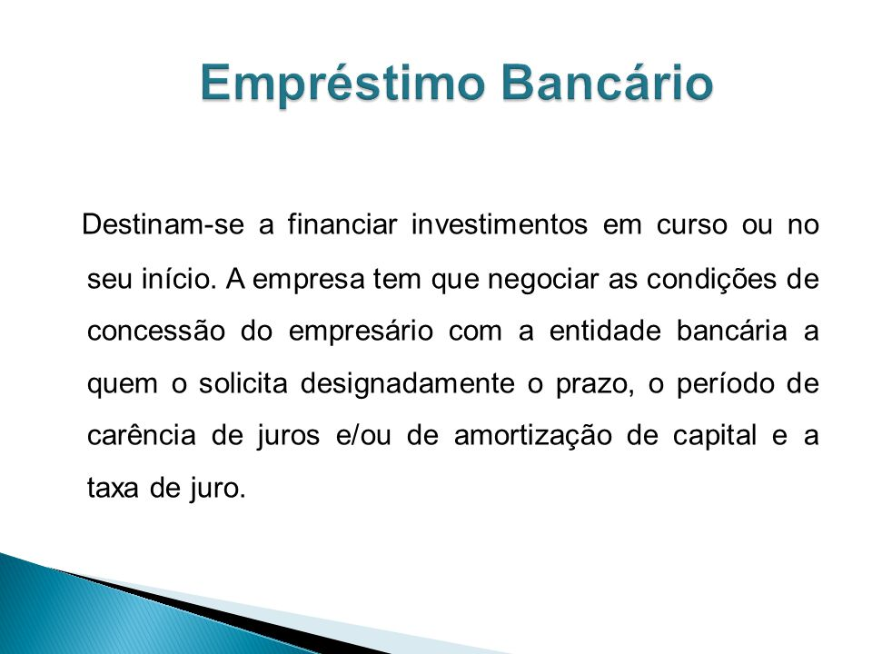 Empréstimo Bancário