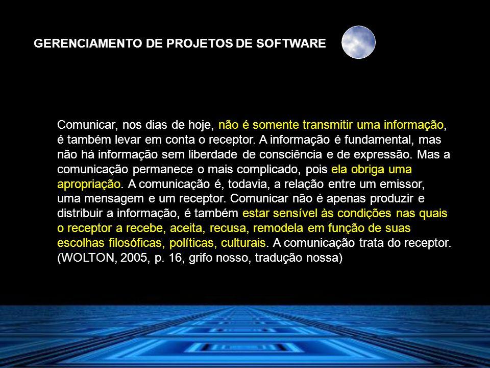 GERENCIAMENTO DE PROJETOS DE SOFTWARE