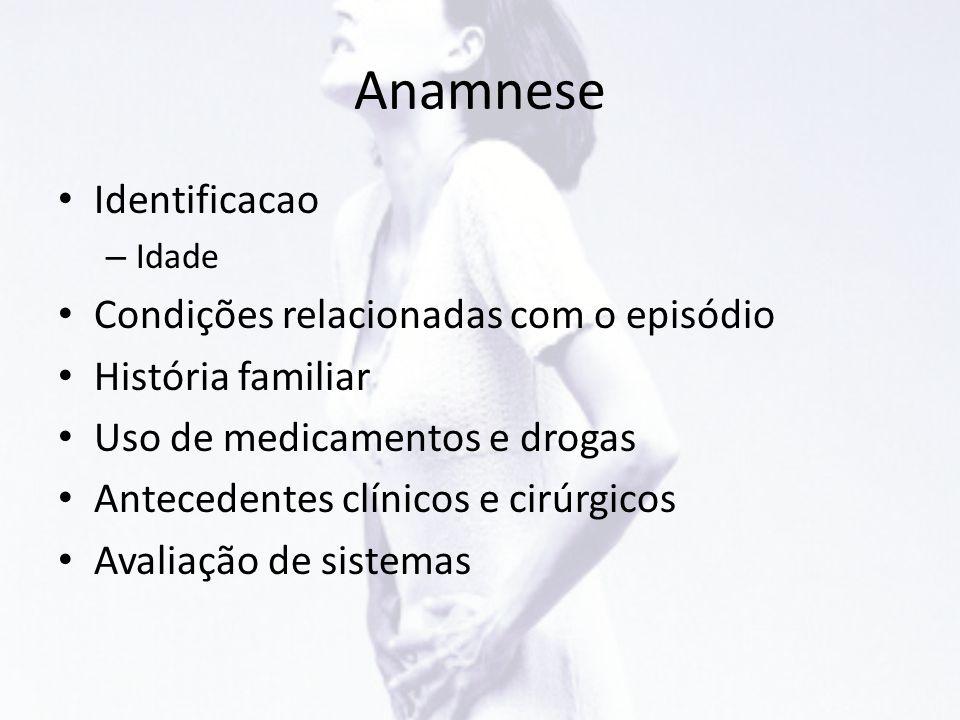 Anamnese Identificacao Condições relacionadas com o episódio
