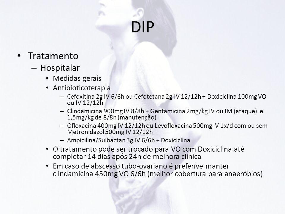 DIP Tratamento Hospitalar Medidas gerais Antibioticoterapia