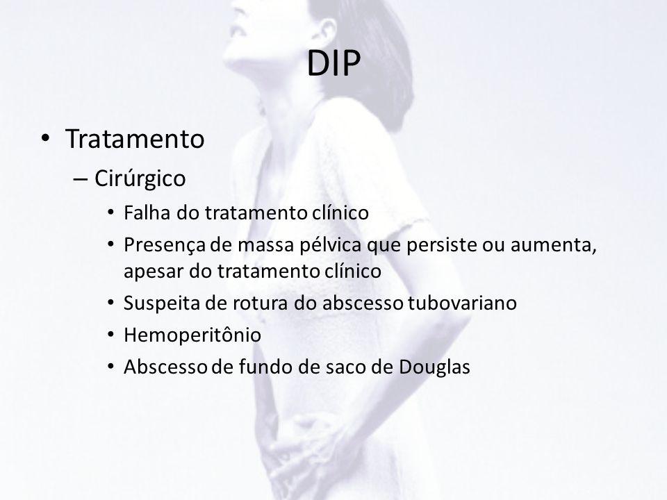 DIP Tratamento Cirúrgico Falha do tratamento clínico