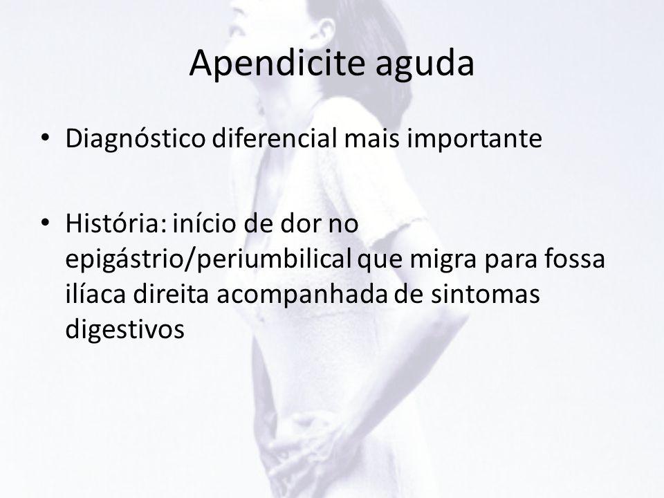 Apendicite aguda Diagnóstico diferencial mais importante