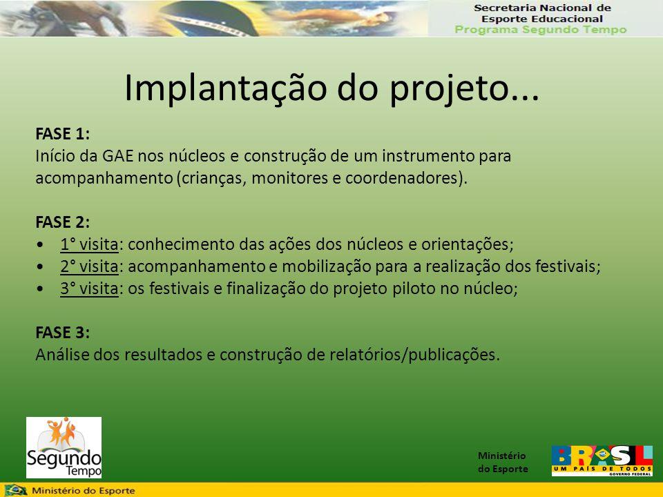 Implantação do projeto...