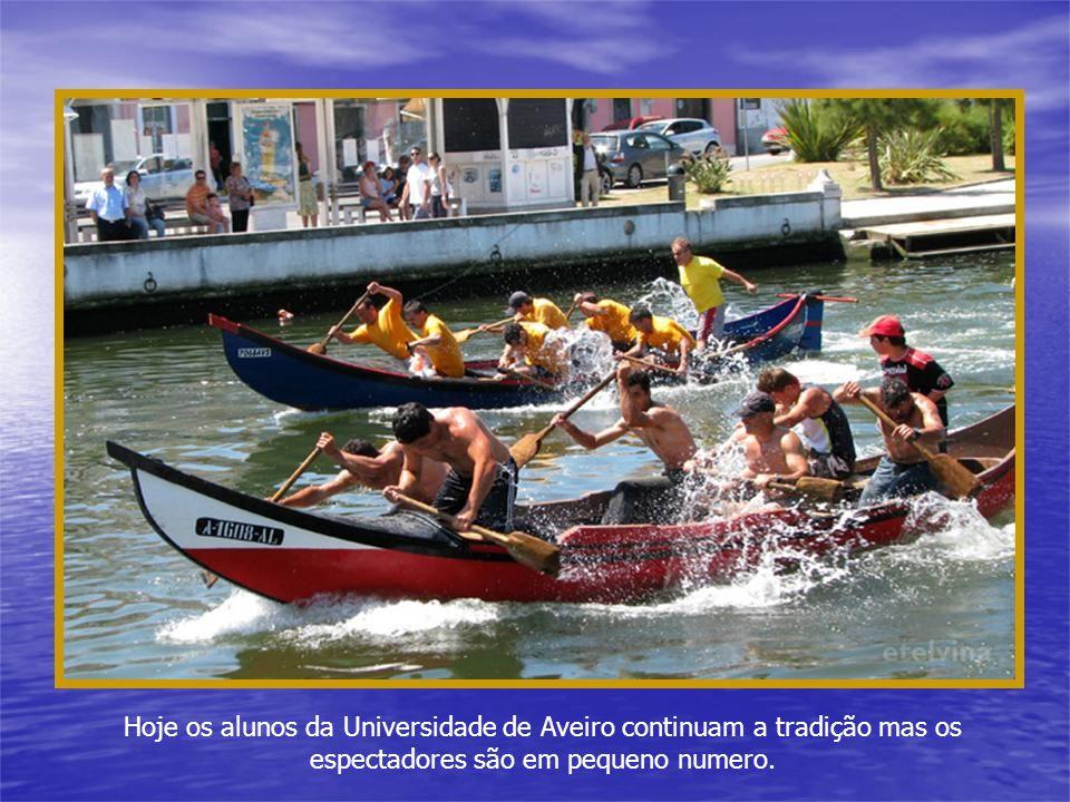 Hoje os alunos da Universidade de Aveiro continuam a tradição mas os espectadores são em pequeno numero.