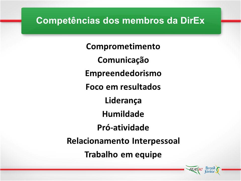 Competências dos membros da DirEx