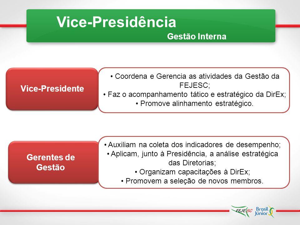 Vice-Presidência Gestão Interna Vice-Presidente Gerentes de Gestão