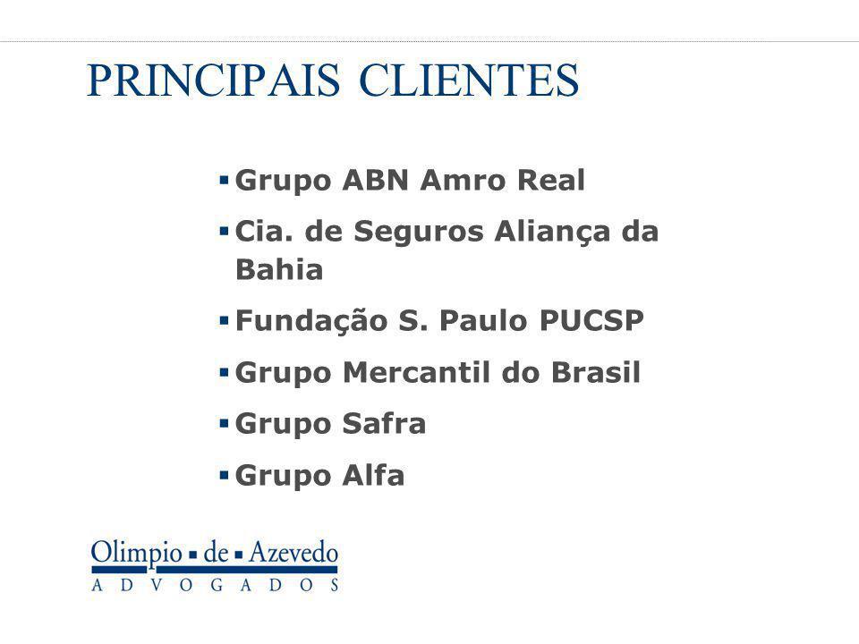 PRINCIPAIS CLIENTES Grupo ABN Amro Real