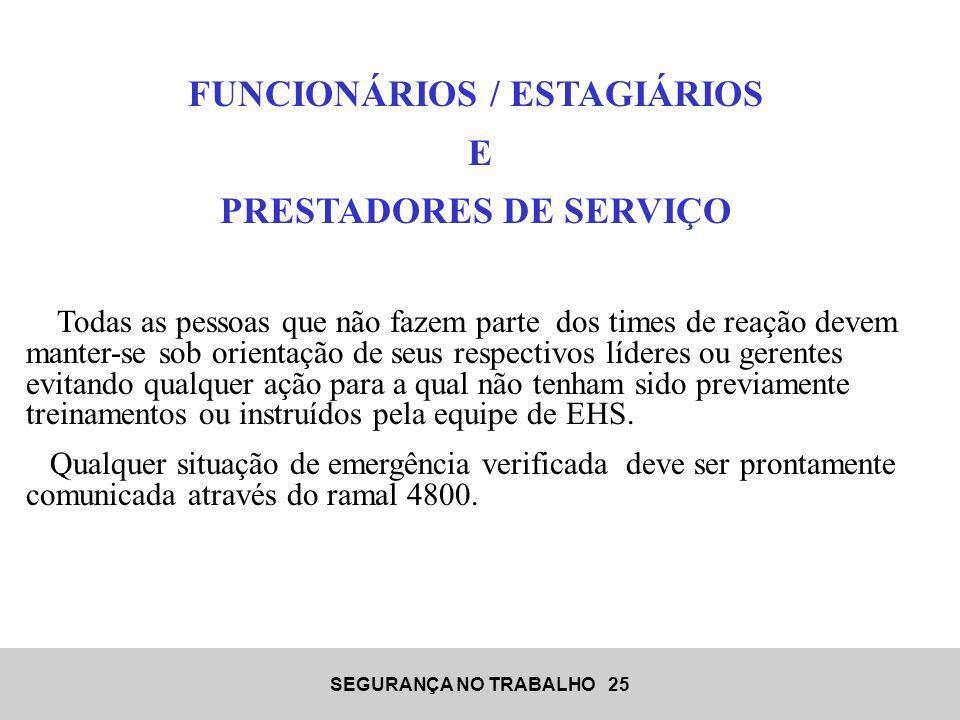 FUNCIONÁRIOS / ESTAGIÁRIOS