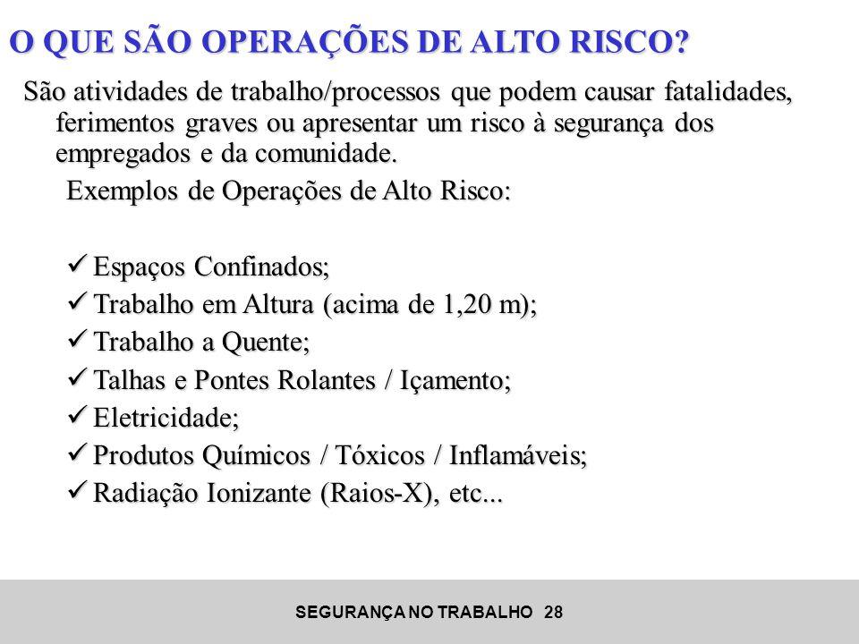 O QUE SÃO OPERAÇÕES DE ALTO RISCO