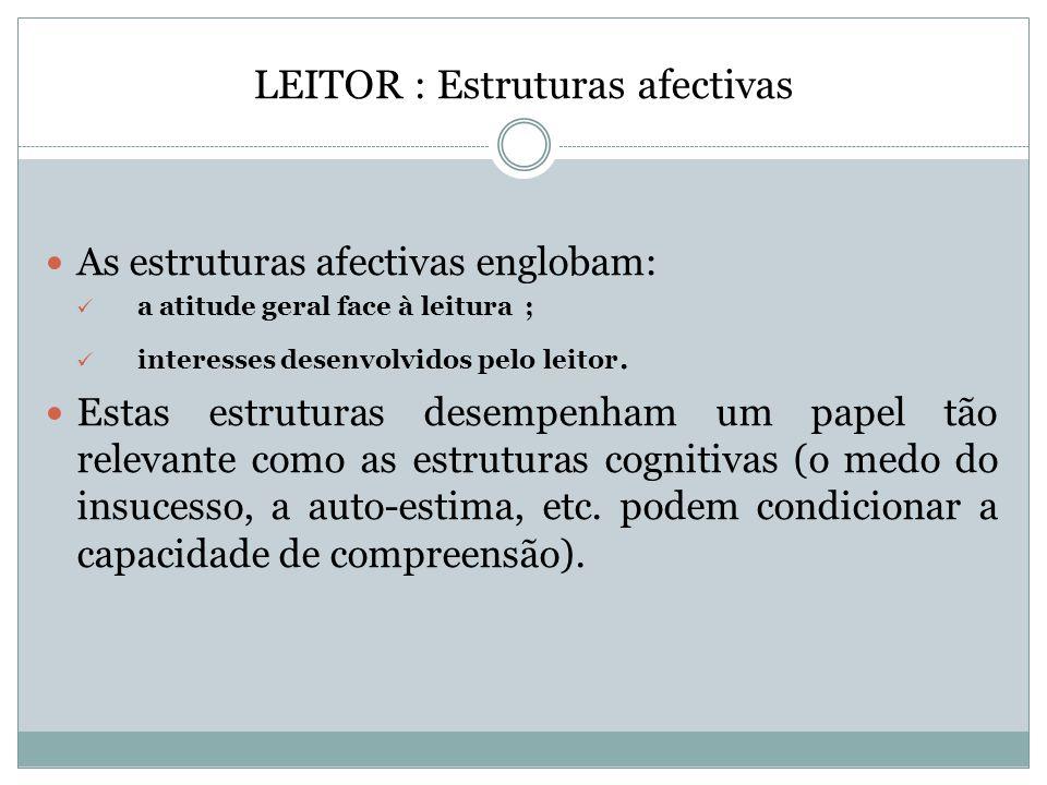 LEITOR : Estruturas afectivas
