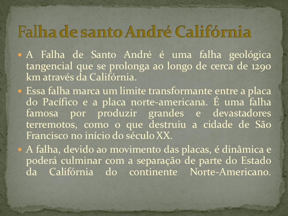 Falha de santo André Califórnia