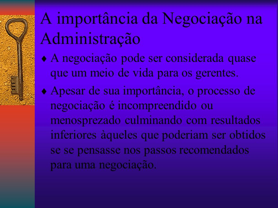 A importância da Negociação na Administração