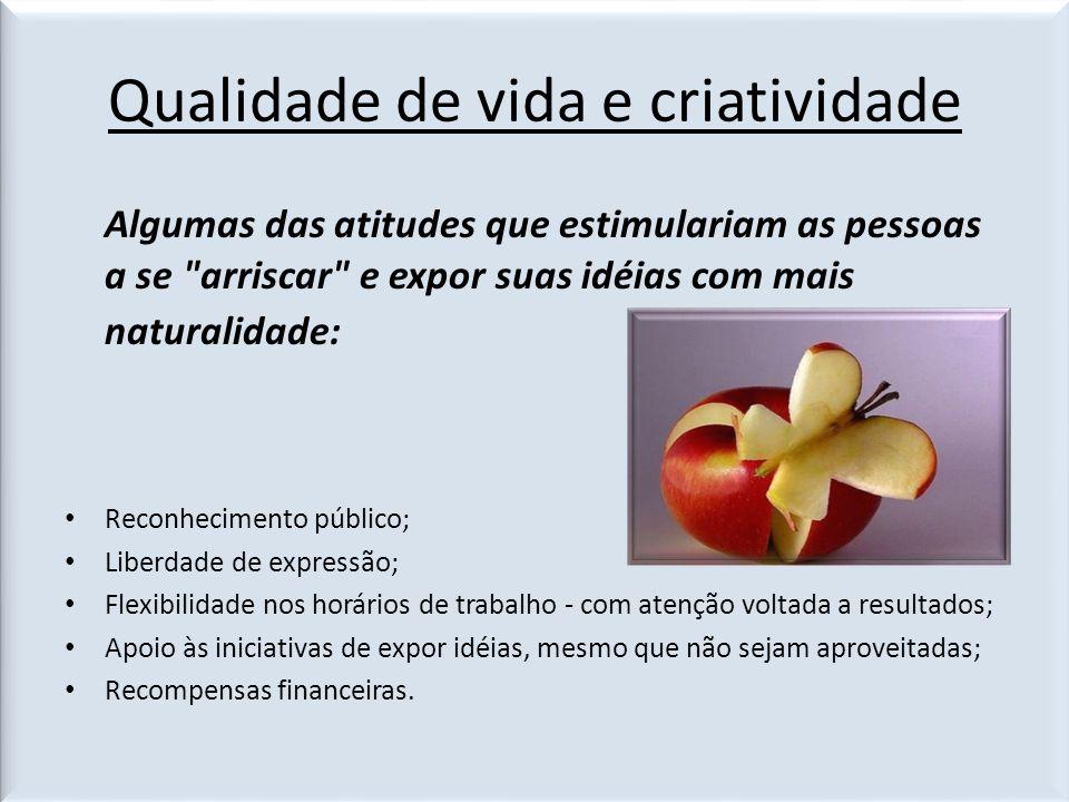 Qualidade de vida e criatividade