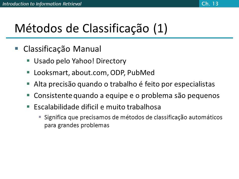 Métodos de Classificação (1)