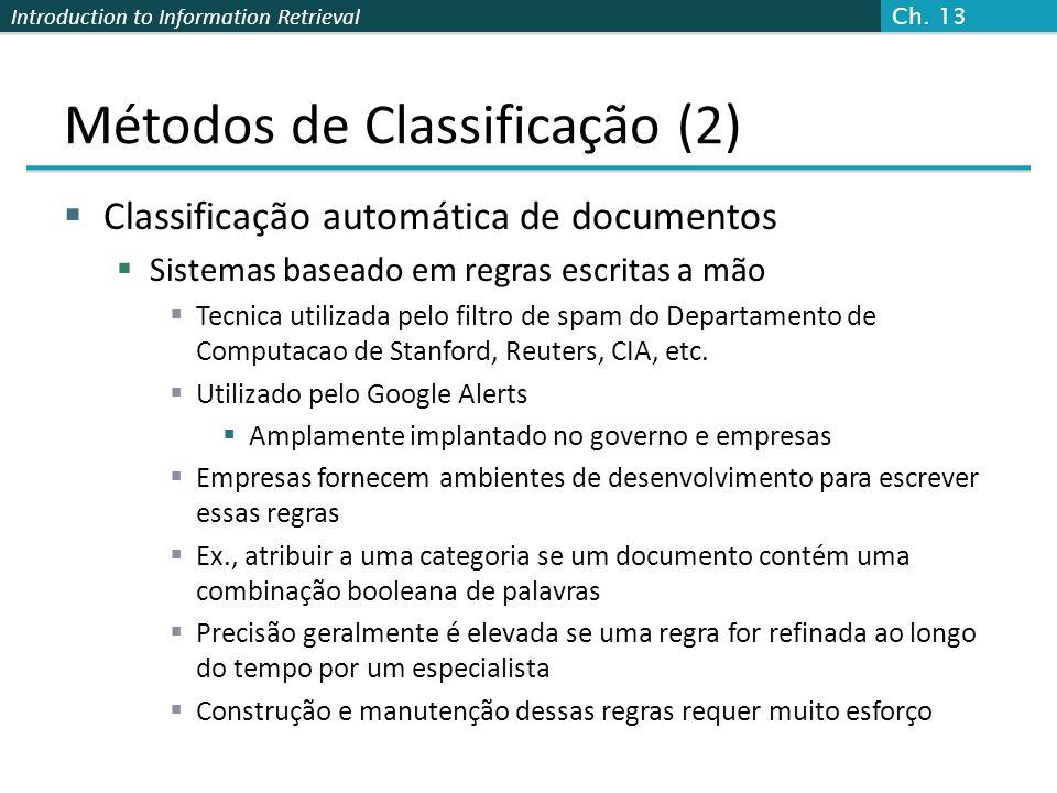 Métodos de Classificação (2)