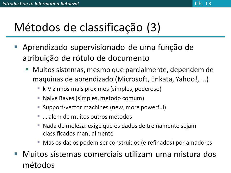 Métodos de classificação (3)