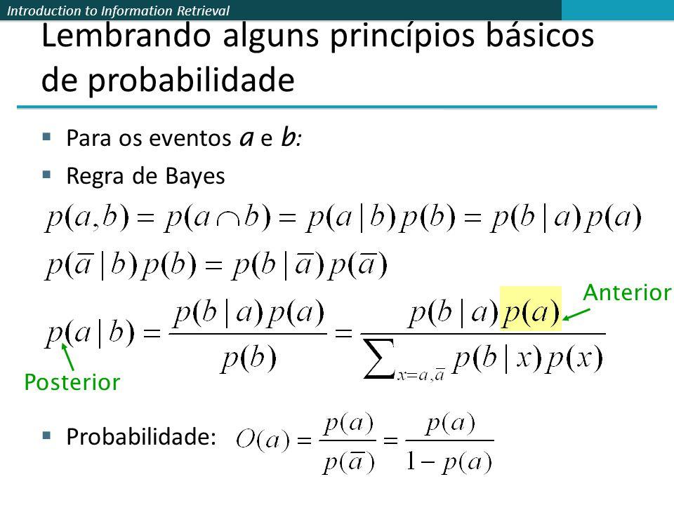 Lembrando alguns princípios básicos de probabilidade