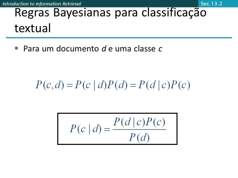 Regras Bayesianas para classificação textual