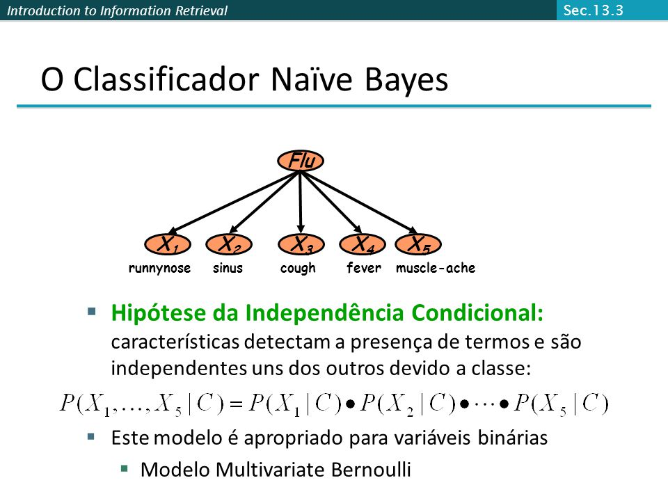 O Classificador Naïve Bayes