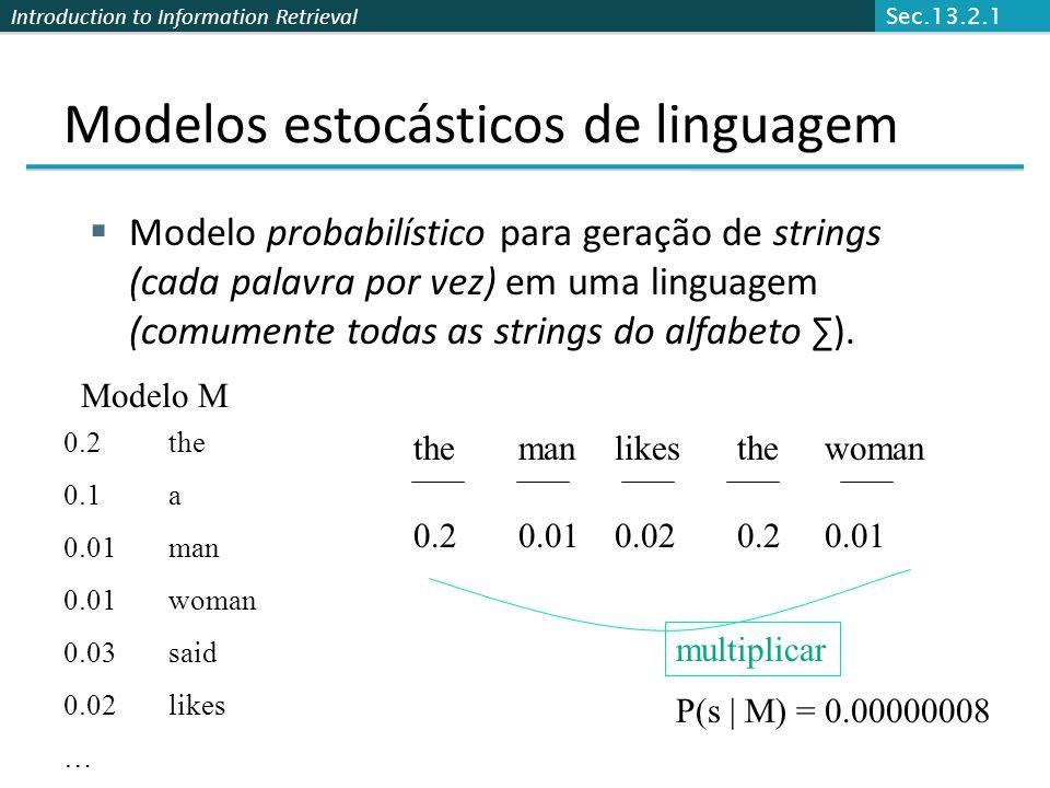 Modelos estocásticos de linguagem