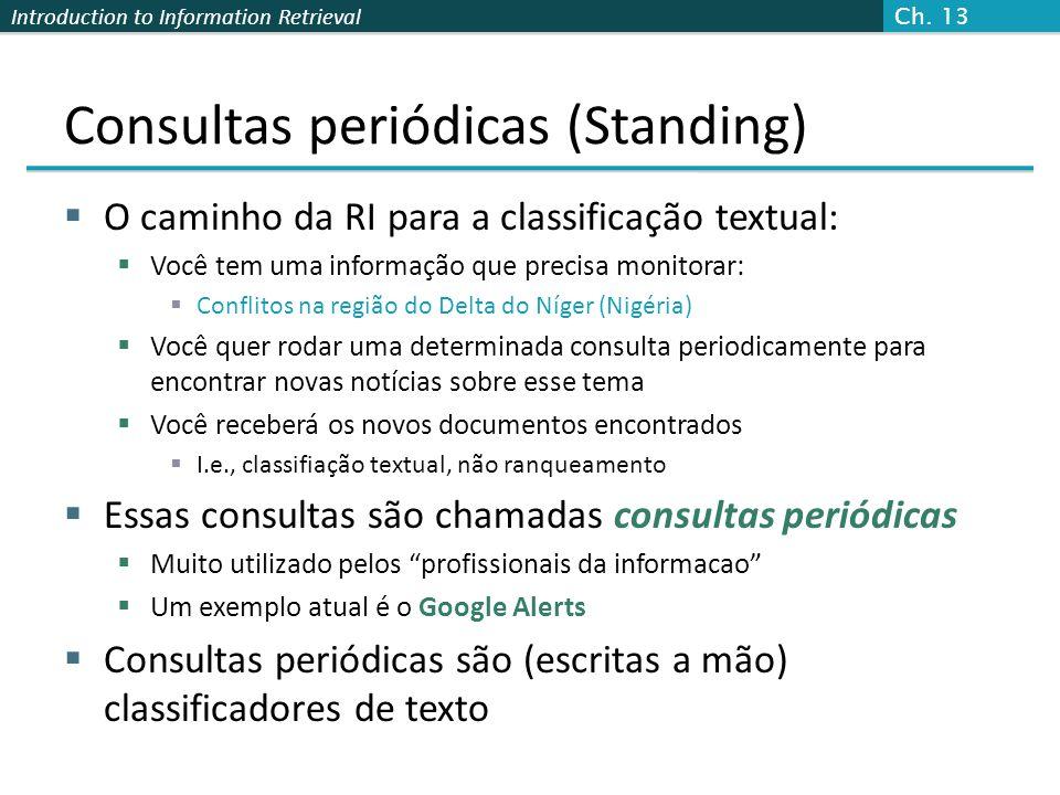 Consultas periódicas (Standing)