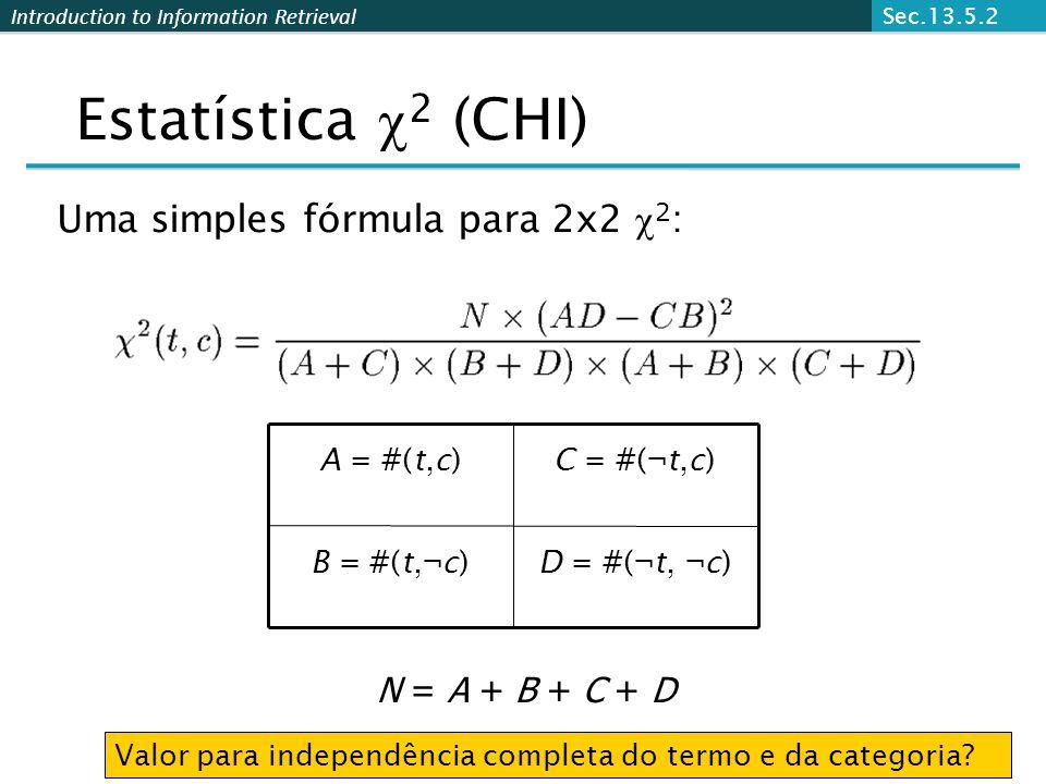 Estatística 2 (CHI) Uma simples fórmula para 2x2 2: