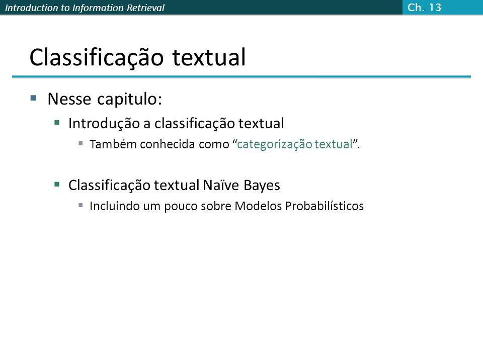 Classificação textual