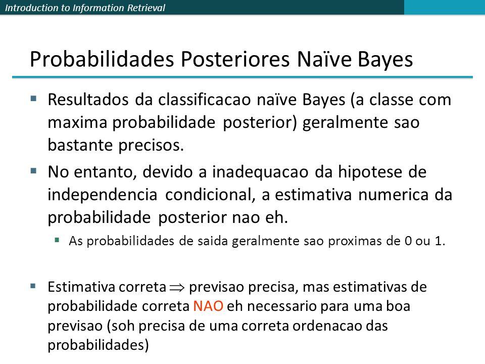 Probabilidades Posteriores Naïve Bayes
